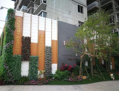 碧桂园公园一号绿植墙包装
